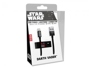 Tribe Lightning kabel 120 cm - Darth Vader